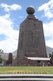 El Mitad del Mundo. 30-meter-tall monument north of Quito, constructed between 1979 and 1982, by Pichincha's Province Council of Ecuador which marks the Equator Royalty Free Stock Image
