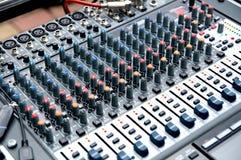 El mixpult de DJ Fotos de archivo