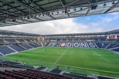 El MK pone el estadio en Milton Keynes Imagenes de archivo