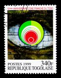 El 10mo aniversario de la zona de libre comercio, serie, circa 1999 Imagen de archivo