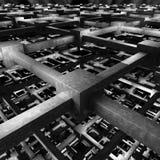 El modelo 3d del cubo rinde Foto de archivo libre de regalías