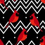 El modelo abstracto con el cardenal y la línea rojos zigzaguea Ornamento para las materias textiles y envolver Vector libre illustration