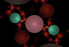 El modelo abstracto del fractal le gusta burbujas Foto de archivo