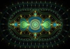 El modelo abstracto del fractal le gusta la alfombra Fotografía de archivo libre de regalías