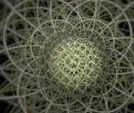 El modelo abstracto del fractal le gusta la red Imagen de archivo libre de regalías