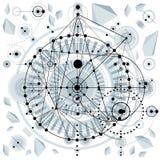El modelo arquitectónico, vector el fondo digital con differen ilustración del vector