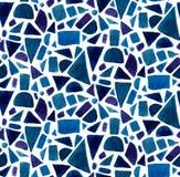 El modelo azul de la geometría con la acuarela pintó formas del mosaico Fondo inconsútil del vector ilustración del vector