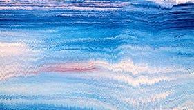 El modelo de acrílico de la raya con azul y blanco agita imagenes de archivo