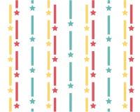 El modelo de líneas coloreadas y de estrellas verticales en un fondo blanco stock de ilustración