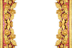 El modelo de la flor del oro talló en el fondo blanco Fotografía de archivo