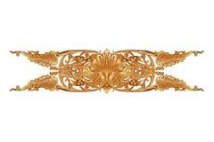 El modelo de la flor talló en la madera para la decoración Imagenes de archivo