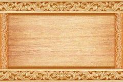 El modelo de la flor talló en la madera para la decoración Fotografía de archivo libre de regalías