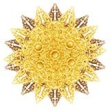 El modelo de la flor talló en la madera para la decoración Imagen de archivo libre de regalías