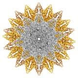 El modelo de la flor talló en la madera para la decoración Fotos de archivo libres de regalías