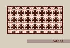 El modelo de la plantilla para el laser que corta el panel decorativo ilustración del vector