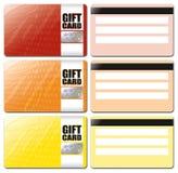 El modelo de la tarjeta del regalo fijó 1 Imágenes de archivo libres de regalías