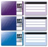 El modelo de la tarjeta del regalo fijó 2 Imagen de archivo libre de regalías