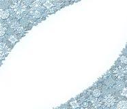 El modelo de los copos de nieve le gusta el cordón para la tarjeta del día de fiesta Foto de archivo