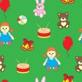 El modelo de los niños inconsútiles con los juguetes Fotos de archivo libres de regalías