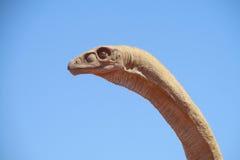 El modelo de una cabeza del dinosaurio Foto de archivo