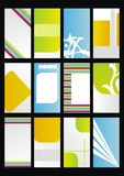 El modelo del diseño, fijó tarjetas de visita Imagen de archivo libre de regalías