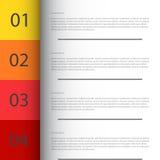 El modelo del diseño moderno/se puede utilizar para el infographics Foto de archivo libre de regalías