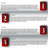 El modelo del diseño moderno/se puede utilizar para el infographics Imágenes de archivo libres de regalías