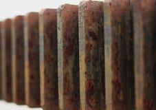 El modelo del engranaje con oxidado fotografía de archivo libre de regalías