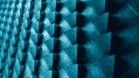 El modelo del extracto de la pared del metal de los triángulos 3D rinde el ejemplo Fotos de archivo