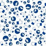 El modelo del facebook, pulgares para arriba, usted puede utilizar para los papeles pintados, imágenes del terraplén, fondo de la stock de ilustración