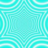 El modelo del trullo con el ornamento geométrico simétrico de la estrella, efectúa la ilusión óptica Imagen de archivo libre de regalías