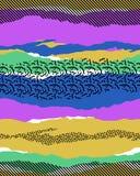 El modelo del vector de Mephis withuneven rayas Imagen de archivo libre de regalías