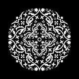 El modelo en negro Fotografía de archivo