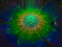 El modelo etéreo agudo concéntrico de la imagen del fondo del fractal torció concepto stock de ilustración