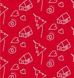El modelo frota ligeramente a niños Blanco en un rojo Imágenes de archivo libres de regalías