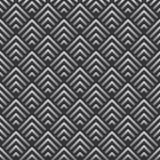 El modelo geométrico abstracto del fondo del vintage inspiró en art déco Formas del vector hechas de las líneas de plata stock de ilustración