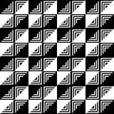 El modelo geométrico de triángulos blancos y negros Fotografía de archivo