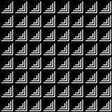 El modelo geométrico de triángulos negros y blancos y negros Fotos de archivo