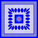 El modelo geométrico del vector para la bufanda del diseño, hijab, bufanda, teja el fondo azul ilustración del vector