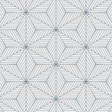 El modelo geométrico del vector, repitiendo ángulo diagonal linear en forma del Rhombus conectó cada uno, estrella del extracto,  ilustración del vector