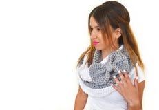 El modelo griego hace publicidad de los accesorios de la mujer imagen de archivo libre de regalías
