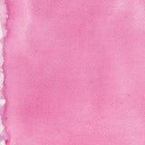 El modelo hecho a mano natural rosado de la textura de la pintura de la acuarela, vertical texturizó el fondo macro de papel del  Fotos de archivo