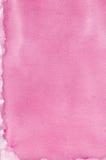 El modelo hecho a mano natural rosado de la textura de la pintura de la acuarela, vertical texturizó el fondo macro de papel del  Foto de archivo
