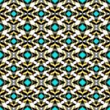 El modelo inconsútil abstracto retro coloreado en un color clásico del estilo geométrico con formas geométricas vector el ejemplo Foto de archivo libre de regalías