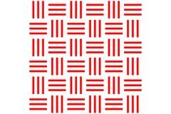El modelo inconsútil, barra horizontal con la línea roja vertical en el fondo blanco, ejemplo del vector Imagen de archivo