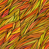 El modelo inconsútil coloreado otoñal con marrón en el estilo de la silueta para el fondo, el papel pintado y la materia textil d Fotografía de archivo