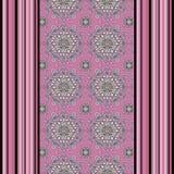 El modelo inconsútil con las flores, adorna las líneas backgroundvertical de la textura elegante, dibujando Imagen de archivo