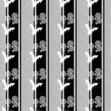 El modelo inconsútil con las flores blancas se ennegrece, fondo gris Imágenes de archivo libres de regalías