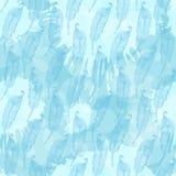 El modelo inconsútil con las plumas azules abstractas en ablots entinta el azul Imagen de archivo