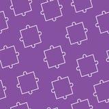 El modelo inconsútil con rompecabezas junta las piezas en fondo púrpura libre illustration